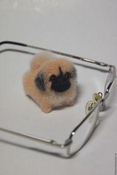 Купить Валяная игрушка пекинес миниатюрный в интернет магазине на Ярмарке Мастеров