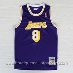maillot nba pas cher Los Angeles Lakers Bryant #8 pourpre mesh tissu 22,99€