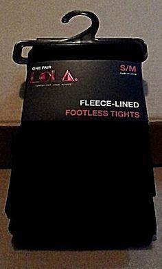 Fleece Lined Footless Leggings Black Small Medium LOLA Soled Out Socks NEW #SoledOutSocksLOLA