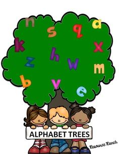 Alphabet Letter Trees - alphabet center - alphabet book - alphabet activities