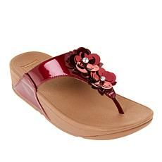 """""""As Is"""" FitFlop Lulu Wildflower Toe Post Sandal - Metallic Coconut Sorbet, Fitflop Sandals, Mothers Day Special, Too Faced Cosmetics, Flower Power, Wild Flowers, My Style, Toe, Pink"""