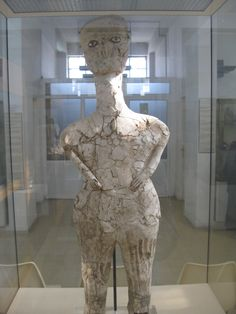 Ancestor Statues, Ain Ghazal, Pre Pottery Neolithic B c 6500AD Archeological Museum, Amman JOR