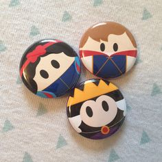 Snow White and the Seven Dwarves inspired 1 inch pins! Perfect for park bags, lanyards, and jackets!