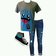I don't like how the pants are rolled at the bottom but the shirt and shoes are awesome!