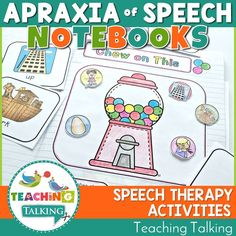 Whether you can see your students individually or are challenged by mixed groups, you'll love Apraxia of Speech Interactive Notebooks Bundle! Articulation Activities, Speech Therapy Activities, Language Activities, Speech Language Therapy, Speech Language Pathology, Speech And Language, Love Speech, Childhood Apraxia Of Speech, Interactive Notebooks
