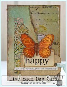 Live Each Day Card by Tammy Tutterow | www.tammytutterow.com