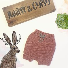 Knit bloomers // girls boho diapercover // handmade baby shorts // dusty rose bloomers // vintage look // vegan clothing // hippie style by JuniperAndGypsy on Etsy