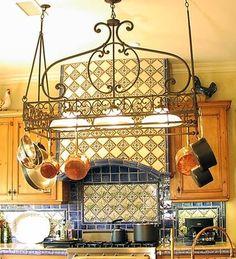 Dutch Lighted Iron Pot Rack. OMG Perfect! | Home | Pinterest | Pot Rack,  Dutch And Iron
