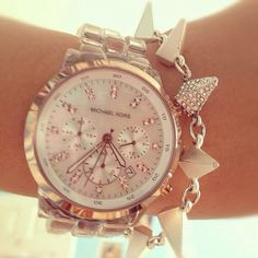 Rose Gold Michael Kors Watch - Spike Bracelet
