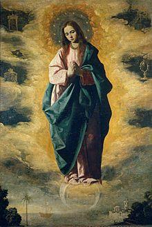 La Inmaculada Concepción, 1630 (128 x 89), Museo del Prado Madrid #350Zurbarán
