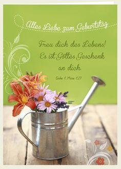 Doppelkarte - Alles Liebe zum Geburtstag - Freu dich...