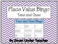 Place Value Tens and Ones Bingo Math Game with 4 sets of calling cards Place Value Activities, Math Place Value, Place Values, Math Classroom, Classroom Activities, Classroom Ideas, Maths, Special Education Math, Learning Place