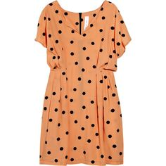 Discount Mini for Many Polka-dot crepe dress | theOutnet.com ($160) ❤ liked on Polyvore