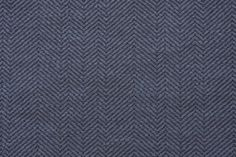 7.3 Yards Herringbone Stripe Upholstery Fabric in Blue