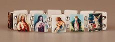 All Saints Elasticated Plastic Bracelet with all Saints Images. Our Lady Of Lourdes, All Saints, Virgin Mary, Catholic, Plastic, Bracelets, All Saints Day, Blessed Virgin Mary, Bracelet