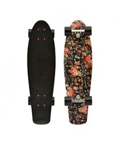 "Penny Nickel Floral 27"" Original Plastic Skateboard // I WANT THIS SO BADLY"
