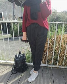 Style fashion classic pants Ideas for 2019 Modern Hijab Fashion, Street Hijab Fashion, Hijab Fashion Inspiration, Muslim Fashion, Modest Fashion, Fashion Outfits, Style Fashion, Hijab Style, Hijab Chic
