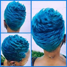 Not this color but the cut! Cute Hairstyles For Short Hair, Weave Hairstyles, Short Hair Cuts, Short Hair Styles, Ladies Hairstyles, Pixie Styles, Pixie Cuts, Vivid Hair Color, Cool Hair Color