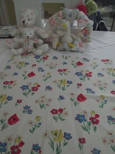 BN Rare Discontinued Cath Kidston Cotton Duck Fabric Remnant In Paradise Bunch