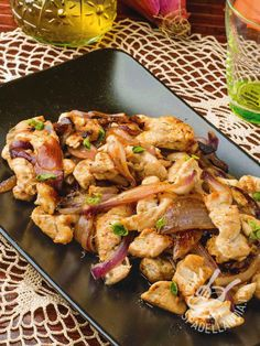 Turkey strips and Tropea onions-Putenstreifen und Tropea-Zwi.- Turkey strips and Tropea onions-Putenstreifen und Tropea-Zwiebeln Turkey strips and Tropea onions - - Duck Recipes, Meat Recipes, Chicken Recipes, Cooking Recipes, Healthy Recipes, Cena Light, Pollo Chicken, Potluck Dishes, Food Goals