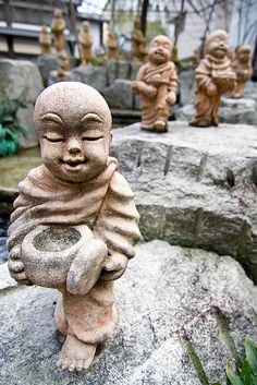 Buddha statues near Rokkakudo Temple | Flickr - Photo Sharing!