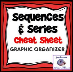 Sequences and Series Formulas Cheat Sheet.All the formulas your ...