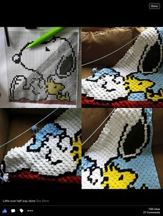 Snoopy c2c blanket...must learn corner to corner technique!