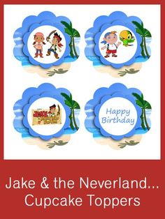 Peter Rabbit Cupcake Toppers - FREE PDF Download