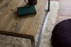 Coffee Table Custom Reclaimed Box Steel Legs Industrial Rustic Modern Industrial Furniture Bespoke Coffee Table Hand Made in UK