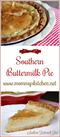 Mommy's Kitchen - Recipes from my Texas Kitchen!!  Buttermilk Pie is an old fashioned southern style custard pie with a lightly brown, crispy topping.#pie #southern #buttermilk #simple #mommyskitchen
