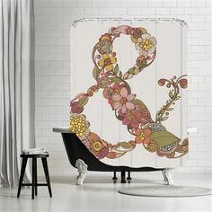 Valentina Ramos - Ampersand, Shower Curtain, 180x180