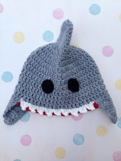 Shark Hat on Pinterest Crochet Shark, Shark Craft and ...