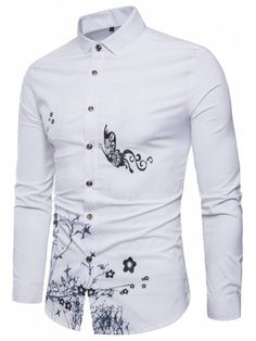 e8aa9834 Four Seasons Long Sleeved Shirt Printing Gold Powder Wet Dress Shirt Gold  Powder, Cool Shirts