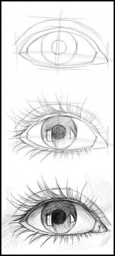 How To Draw An Eye With Crayon: Step By Step