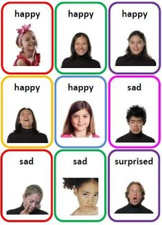 36 Emotions Photo Flash Cards Printable File Folder PDF by SENtoys, $.: