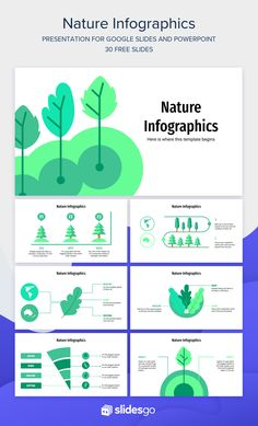 Free Nature Infographics for Google Slides and PowerPoint