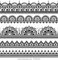 Stock Photo Mehndi Indian Henna Tattoo nahtlose Muster Design Elemente Lizenzfreie Bilder The post Stock Photo appeared first on Frisuren Tips - Tattoos And Body Art Henna Tattoos, Henna Tattoo Muster, Mandala Arm Tattoo, Muster Tattoos, Art Tattoos, Mehndi Tattoo, Henna Doodle, Paisley Tattoos, Henna Mandala