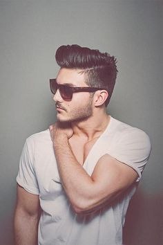 Classic slick pomade hairstyle. We suggest using Grant's Golden Brand Pomade: https://themotley.com/hair/hair-style/grant-s-golden-brand-pomade-usa.html