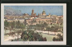 cartolina antiche: AK Palermo, Blick vom Palazzo Reale