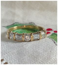A Fine Vintage Diamond 18kt  Gold Wedding by RomanceVintageJewels, $795.00