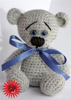 Crocheted Cute Teddy Bear - FREE Amigurumi Crochet Pattern and Tutorial (use Google Translate)