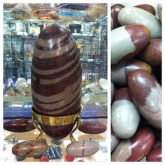 "Believe it or not, Shiva Lingams are river rocks from the Narmada River located in Western India.Unfortunately, they do not naturally form as depicted.Villagers gather the rough Shiva Lingams,polish and shape them.This stone symbolizes the union and balance of both male and female energy. It also reinforces the need for balance and integration of opposing forces, such as ""light"" and ""dark."" Meditating with Shiva Lingams can help one discover the mysteries of creation"