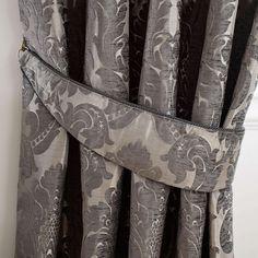 Versailles Charcoal Lined Pencil Pleat Curtains | Dunelm