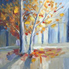 Original acrylic impressionist landscape painting by painterkay