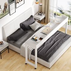Room Ideas Bedroom, Home Bedroom, Bedroom Decor, Bedrooms, Overbed Table, Lofts, Home And Deco, Home Office Furniture, Furniture Deals