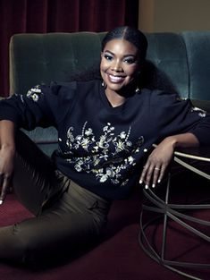 Shop Gabrielle Union Collection - Embroidered Sweatshirt . Find your perfect size online at the best price at New York & Company.