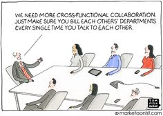 Collaboration cartoon - Mobile requires crossfunctional collaboration #mobilizingshoppers