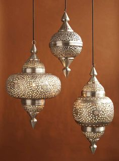 Moroccan Ellipse Lanterns * Set of 3
