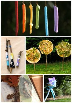 Kids Nature Crafts using Sticks - who would have thought a stick could be so much fun!
