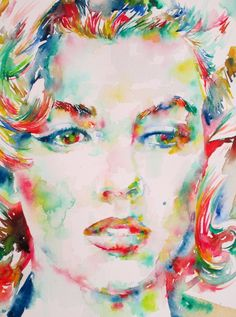 MARILYN MONROE / watercolor portrait.1 by ~superlautir on deviantART